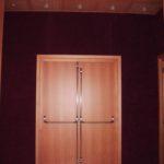 Porta tagliafuoco REI 60 fono isolante Rw 40 dB - maniglione antipanico inox